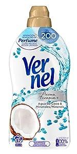 Vernel Suavizante Concentrado para la Ropa Aromaterapia Agua de Coco & Minerals - 54+3 Lavados, 1.140 L