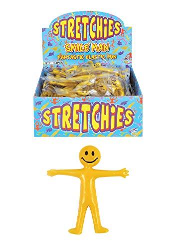 8x Gelbe dehnbare Smiley-Figuren, Spielzeug