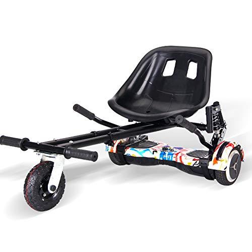 St.mary Karting Support de Karting Scooter électrique Auto-équilibré avec 6,5/8/10 Pouces Coussin d'air de Roue et Suspension HoverKart pour Tout Terrain