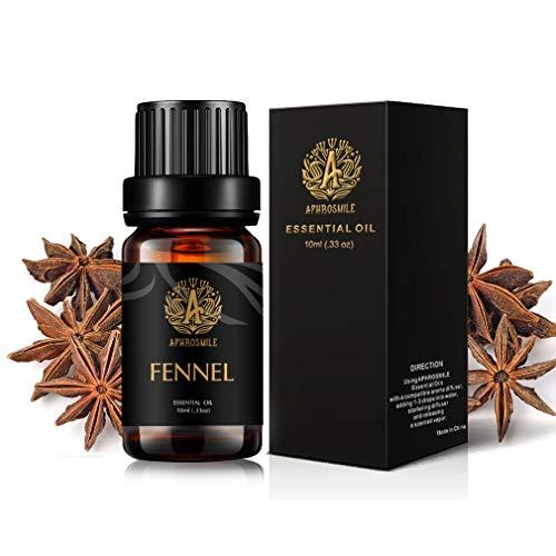 Aromatherapy Fennel Essential Oil for Diffusers, 0.33oz-10ml Therapeutic Grade Fennel Fragrance Essential Oil for Humidifier, 100% Pure Fennel Aromatherapy Essential Oil Fragrance for Home, Massage