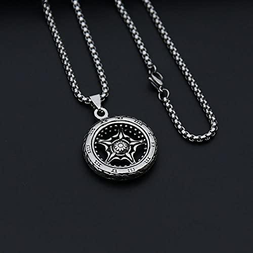 maozuzyy Collar Colgante Joyería Faith Jewelry Personalidad Colgante De Cruz De Acero Inoxidable Hombres-Neumático + Cadena De Quilla