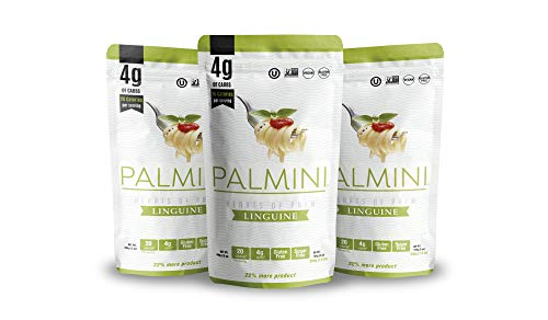 Palmini Low Carb Linguine | 4g of Carbs | As Seen On Shark Tank (12 Ounce Pouch (Pack of 3))
