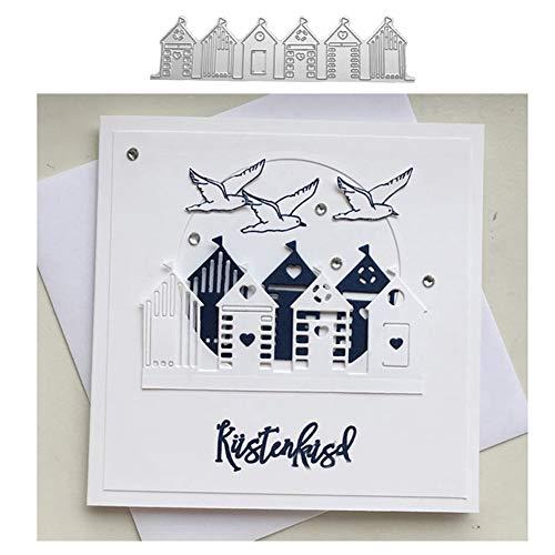 Ponnen Zuhause Haus Stanzbögen Stanzschablonen Scrapbooking Stanzmaschine Stanzformen für Scrapbooking Kartenbasteln Album Papier Dekor