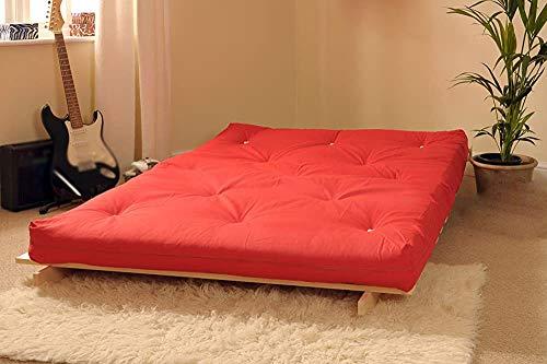 Marco de pino de madera maciza, conjunto de futones de madera, cómodo sofá cama,Red