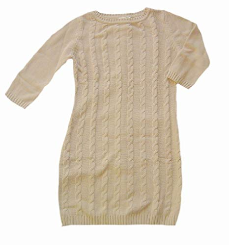 Boysens Damen-Strickkleid mit Zopfmuster, Camel, Gr. 42