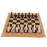 Figuras de Soldado de ajedrez Tablero de ajedrez con Piezas de ajedrez para Juego de Mesa de Viaje...