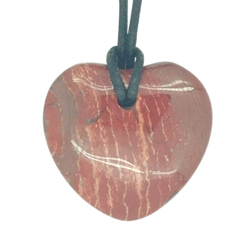 Luck Trader Glücksbringer Sternzeichen Waage Geburtsstein Herz Halskette Edelstein Roter Jaspis