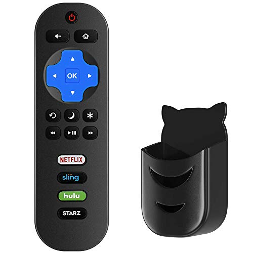 Motiexic RC280 RC282 Remote Control Compatible with TCL Roku 4K TV 32S305 32s325 49S405 49S403 43S303 55S403 32S301 50FS3800 32S3750 32S3800 32S4610R 32S3850A 32S3700 43FP110 55s405 43S425 with Holder