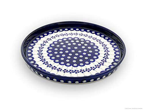 Bunzlauer Keramik Teller (Esstelller), Ø 24,5 cm, H=2,5cm, Dekor 166a
