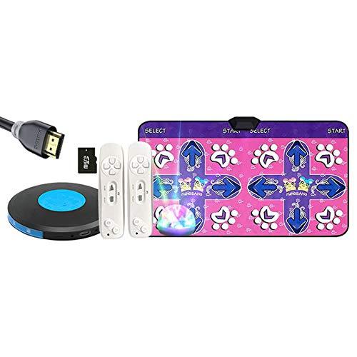 MG REAL Double Dance Mat Inalámbrico Doble Baile Alfombra HDMI TV Computadora Interfaz de Doble Uso Máquina de Baile de Uso doméstico Manta en Marcha