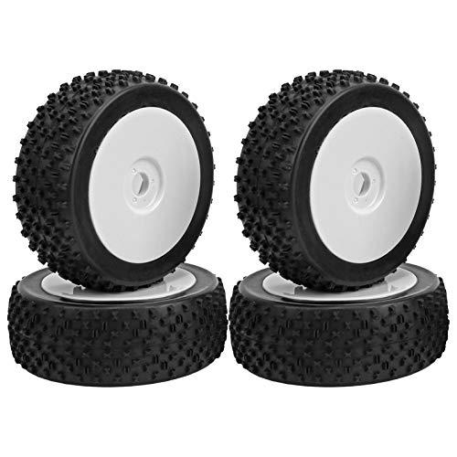Neumático de Goma RC de 4 Piezas, Rueda de neumático de Coche RC Duradera para 1/8 Traxxas HSP Tamiya (A8012) Upgrad Parts