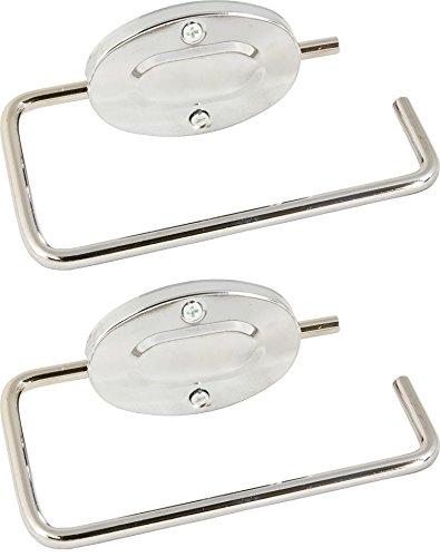 Portarrollos de papel de baño de metal con tornillos y tapones, 1 pack