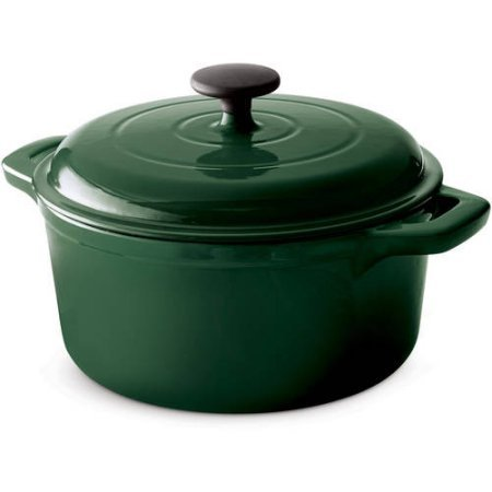 Tramontina Green 5.5-Qt Enameled Cast Iron Round Dutch Oven