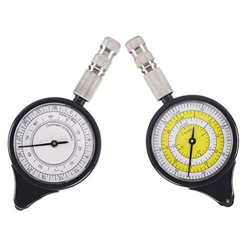 2 multifunctionele kaartenmeter, kompas-afstandsmeter, instrument afstandsmeter voor het oefenen in de open lucht klimmen
