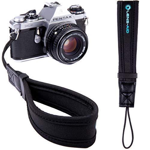 Lens-Aid Handschlaufe aus Neopren für Kamera: Kameragurt fürs Handgelenk geeignet für Canon, Nikon, Sony, Fujifilm, Olympus, Pentax, Leica etc.