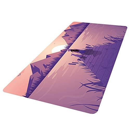 Demarkt – Vade de escritorio de piel con bordes protectores, alfombrilla para ratón, antideslizante, para oficina 120 * 60cm Rosa