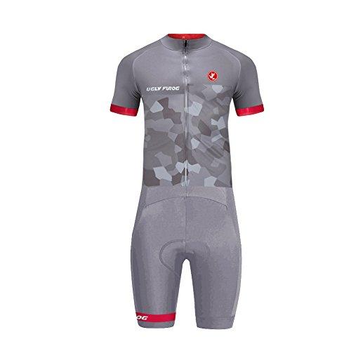 Uglyfrog 2019 Bike Wear Jersey with Short Legs Skinsuit Uomo Mountain Bike Cycling Body Abbigliamento Ciclismo Primavera Style LTFX03F