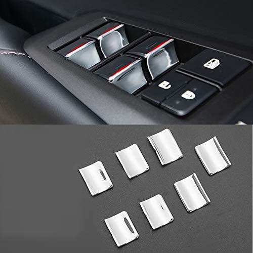 GLEETIEZ Auto Interieur Chrom Tür Fenster Glas Hebeknöpfe Abdeckung Verkleidung Aufkleber, Für Lexus NX300h 200t 200 2015-2019