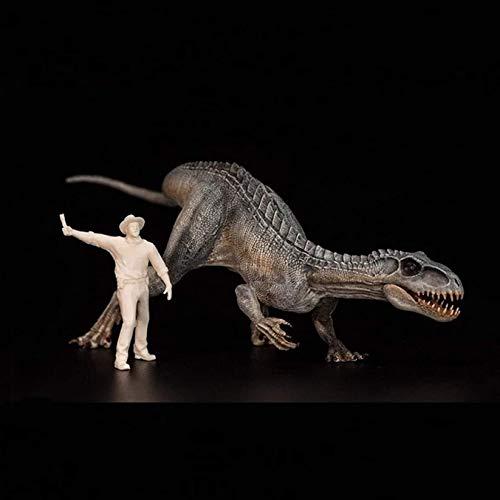 WZH Adornos de Regalo de Juguete de Allosaurus jurásico prehistórico 1/35 simulación Modelo de Dinosaurio de Lengua Azul