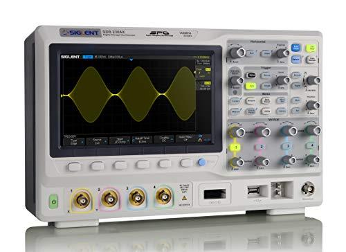 SIGLENT SDS2304X Super Phosphor Oscilloscope 4-Channel 300 MHz 2GSa/s Digital Desktop SPO 140M