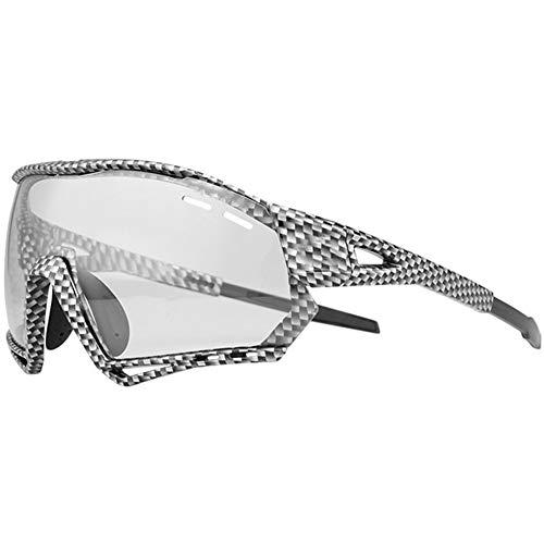 AEF Hombre Mujer Gafas Sol Deportivas Polarizadas Gafas De Ciclismo Viene con 3 Lentes Intercambiables Protección UV Protección Seguridad Gafas Usado para Ciclismo Pescar Conducir,3