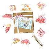Caja con golosinas variadas. Mensaje 'Para mi princesa' tamaño 19,5x19,5 cm