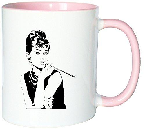 Mister Merchandise Kaffeetasse Becher Audrey Hepburn Teetasse