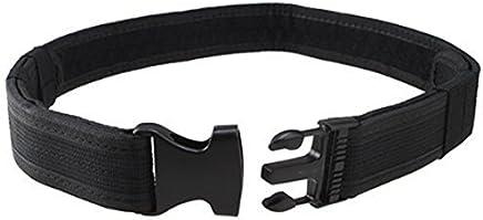 Cinturon de utilidad tactico - TOOGOO(R)Equipo de combate tactico de seguridad de policia Cinturon de deber de nylon de utilidad negro