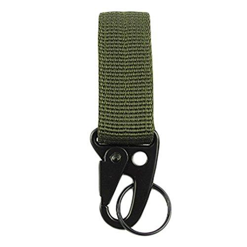 ZN Militaire en Nylon extérieur Crochet de Suspension Clé Mousqueton Sangle Molle Boucle de Ceinture, Homme Femme, Green