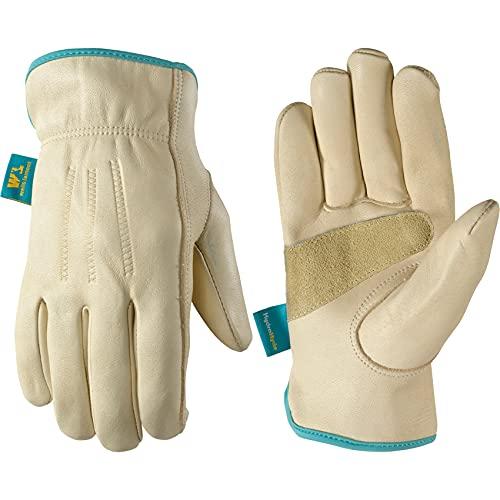 Wells Lamont Mujer, resistente al agua vacuno guantes de trabajo de piel con tecnología hydrahyde