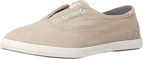 Keds Women's Chillax Washed Laceless Slip-On Sneaker,Taupe,6.5 M US