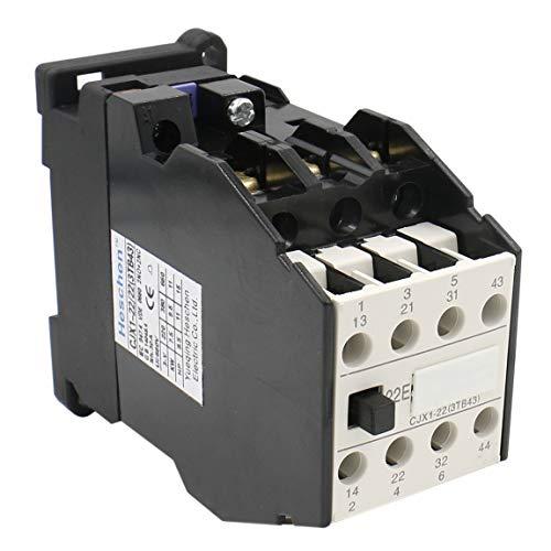 Heschen AC Contactor CJX1-22/22 24V Coil 50/60Hz 9.5KW 3 Pole 2NO+2NC 380V 22A