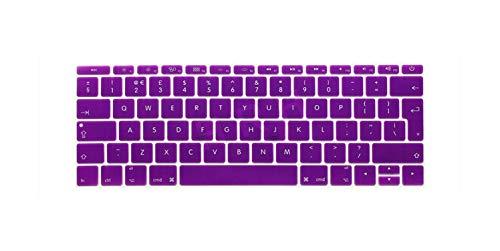 Euro EU Layout - Funda de teclado inglés para MacBook Mac Pro de 13 pulgadas A1708, versión no táctil de 2016 y 2017, sin barra táctil morado