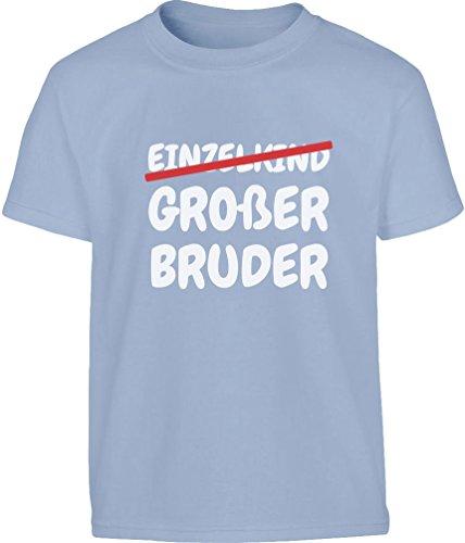 Geschenk Großer Bruder statt Einzelkind Kleinkind Kinder Jungen T-Shirt 94 Hellblau