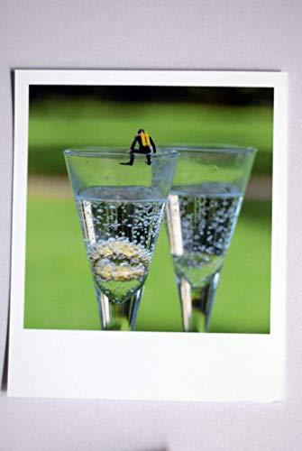 Coole Fotografie im Retro-Polaroid-Format | Taucher auf Sekt-Glas | Heirats-Antrag | Do it!