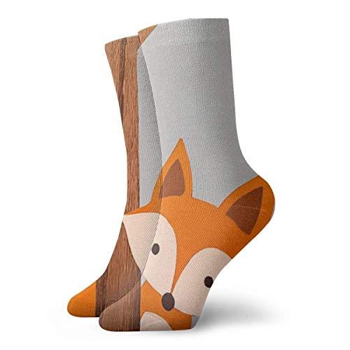 Herren Kleid Socken Schöne Fox Winter Warm Dick Gedruckte Casual Cosy Crew Socken
