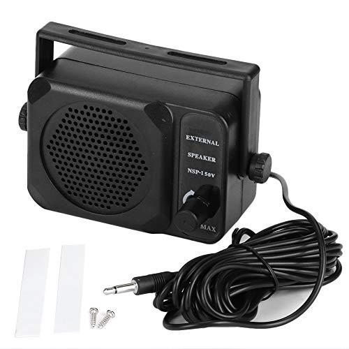 Qiilu Altoparlante esterno per autoradio, mini altoparlante esterno NSP-150V Radio bidirezionale CB HF VHF Ricetrasmettitore UHF Accessorio per auto