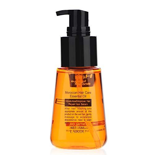Haarwuchs Essenzöl, 70 ml natürliches Arganöl Haarausfallbehandlung Haarserum Ausdünnung/Glatze/Reparaturen Haarfollikel, fördert Dicker und Nachwachsen für Männer und...