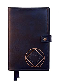 Double Narcotics Anonymous NA Basic Text & It Works How & Why Book Cover Medallion Holder Blue