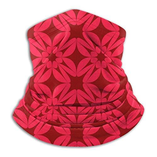 senob rood behang patroon decoratie ster vorm hoofddeksels hals Gaiter Warmer winter ski buis sjaal masker fleece gezicht cover winddicht