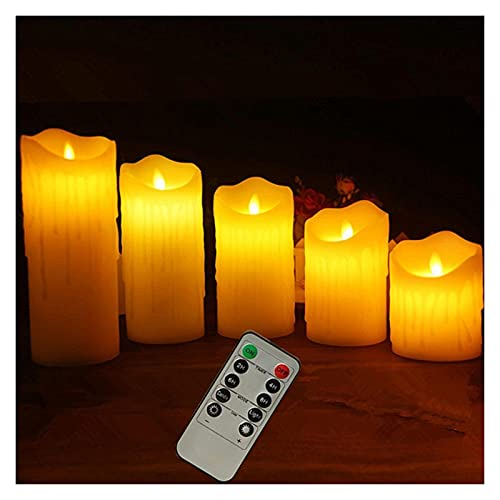 ZHAHAPPY 3Pcs/ 1Pcs Candles Lights, LED Flameless Candles Light With Timer Remote Control Smooth Flickering Candle Light Battery Operated (Color : 1pcs 7.5x12.5 cm)