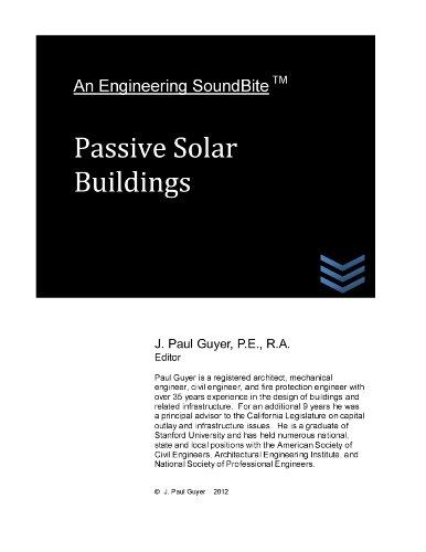 Passive Solar Buildings (Engineering SoundBites)
