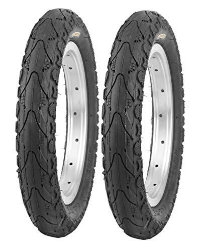P4B | 2X 16 Zoll Reifen - 16 x 1.75 | 47-305 | Komfortabler Fahrradreifen mit Stollen an den Seiten für optimales Rollen auf Straßen, Schotter, Waldwege | OHNE FELGEN