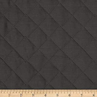 Fabri-Quilt 0269129 Double Sided Quilted Broadcloth Dark Grey Fabric by the Yard