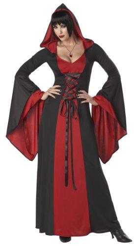 Generique - Disfraz Vestido maléfica con Capucha Mujer - S (38/40)