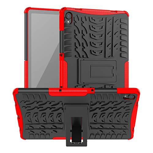 DWaybox per Lenovo Tab P11 Case 11' 2021 (modello: TB-J606F/TB-J606X), robusto armatura resistente 2in1 Combo antiurto custodia protettiva per tablet Lenovo Tab P11 con cavalletto, rosso