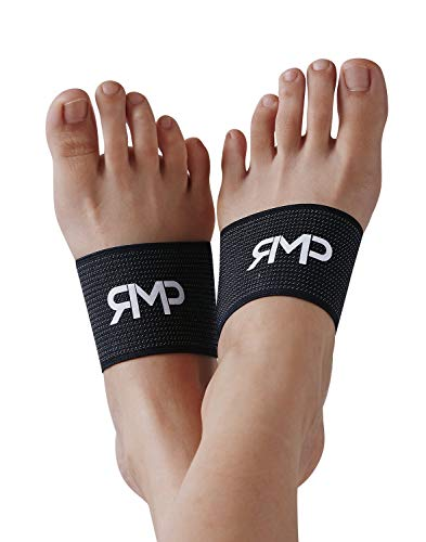 Arch Compression Support Sleeves for Plantar Fasciitis - Excellent for High Arches, Flat Feet, Heel Spurs or Foot Pain & Care, 1-Pair, Black, One Size Fits All.