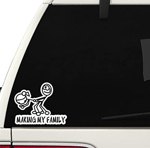 Making My Family Decal Cool CAR Truck Bumper Sticker Coffee