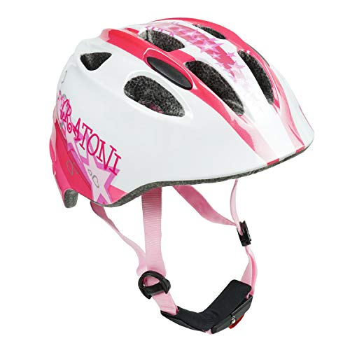 Cratoni Fahrradhelm Kinder Akino, White-pink Glossy Star, Gr. S (49-53 cm)
