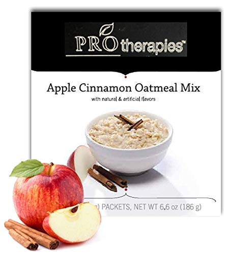 High Protein Oatmeal, Gluten Free Low Carb, Apple Cinnamon (15g Protein) - 6 Servings/Pack from ProTherapies